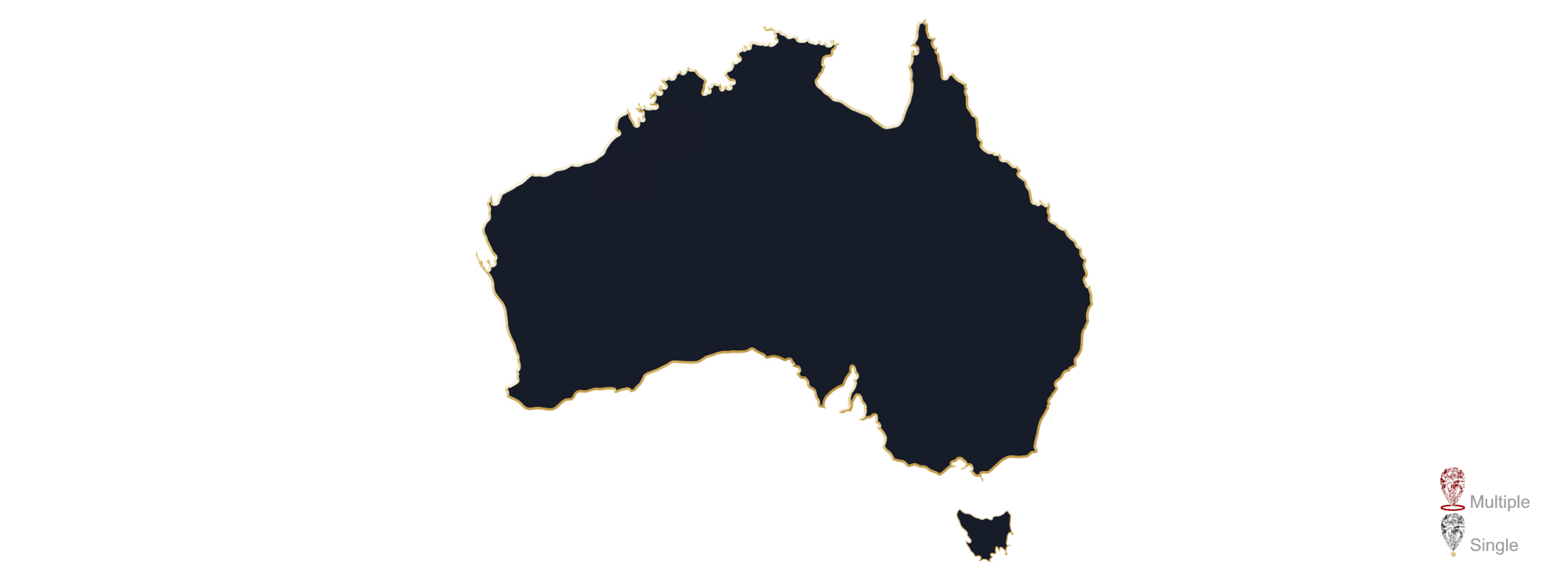 A map showing the location of Australian Jewellery Valuers