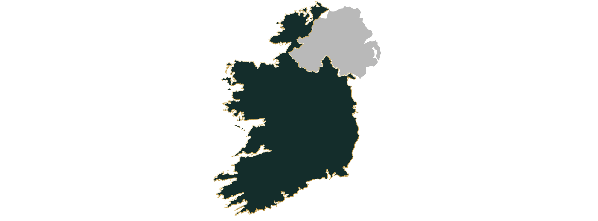Map showing the location of jewellers in Ireland