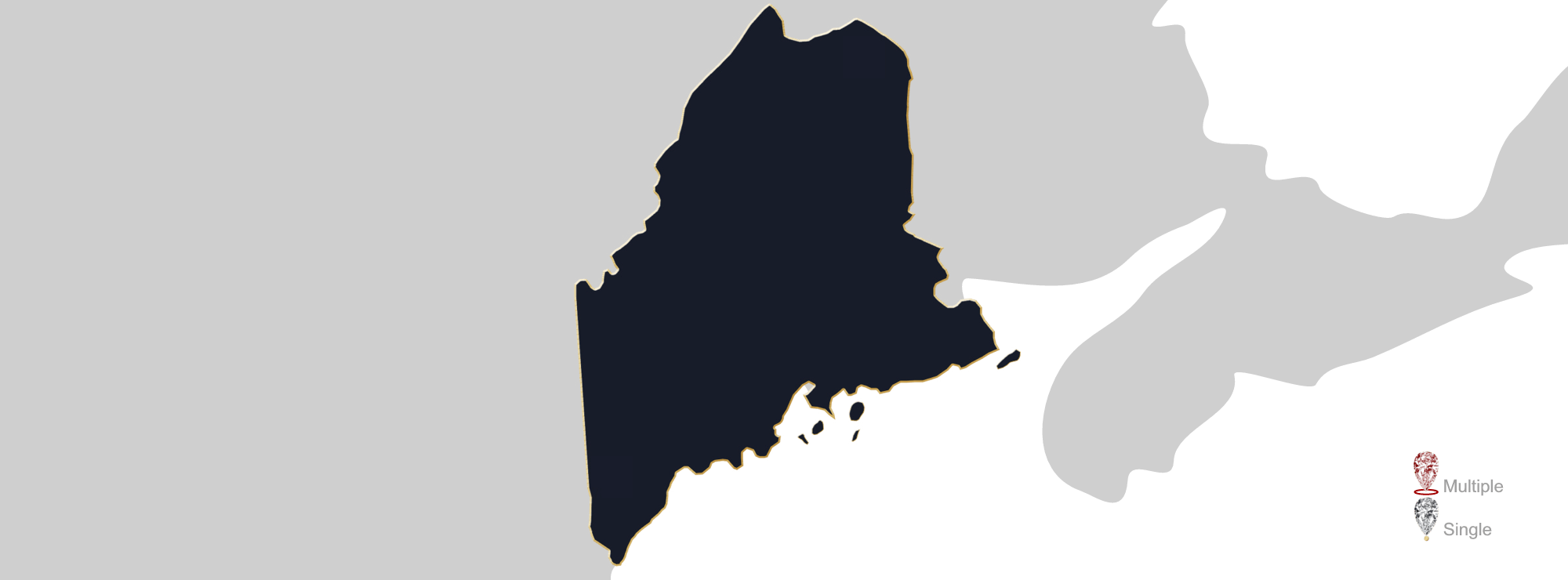 Map showing location of Jewelry Appraisers in Maine