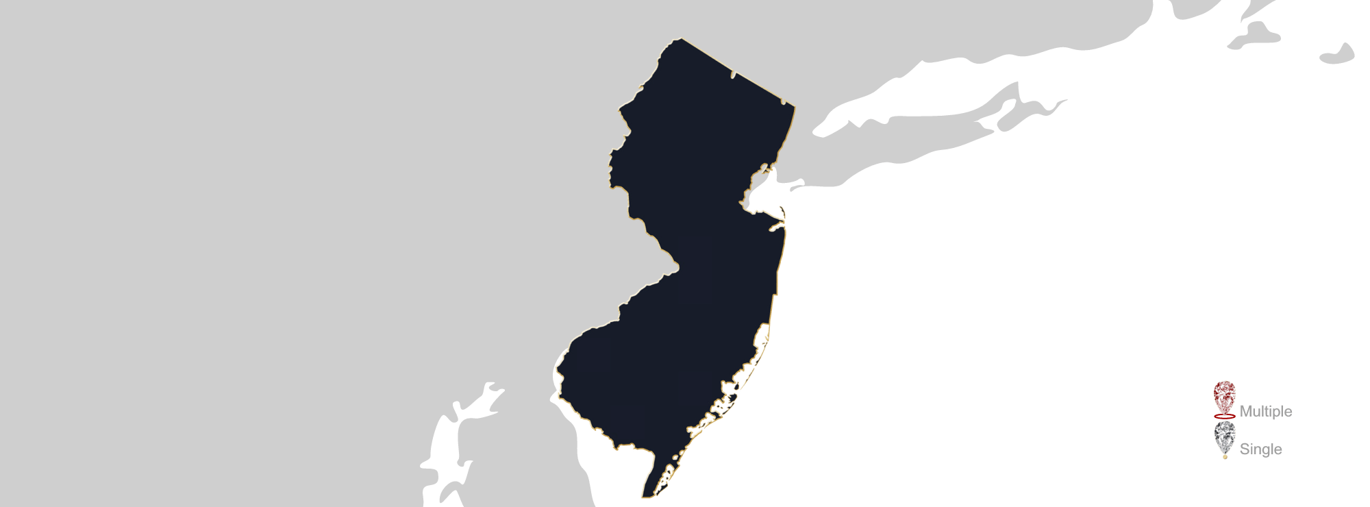 New Jersey map