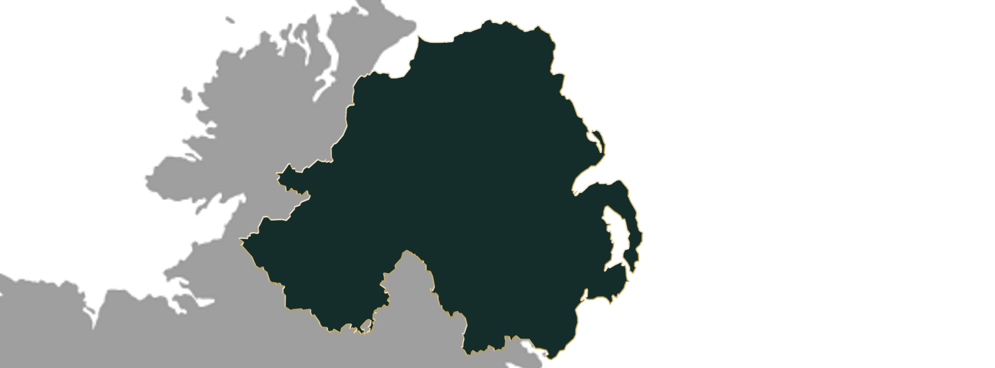 Map showing the location of jewellers in Northern Ireland