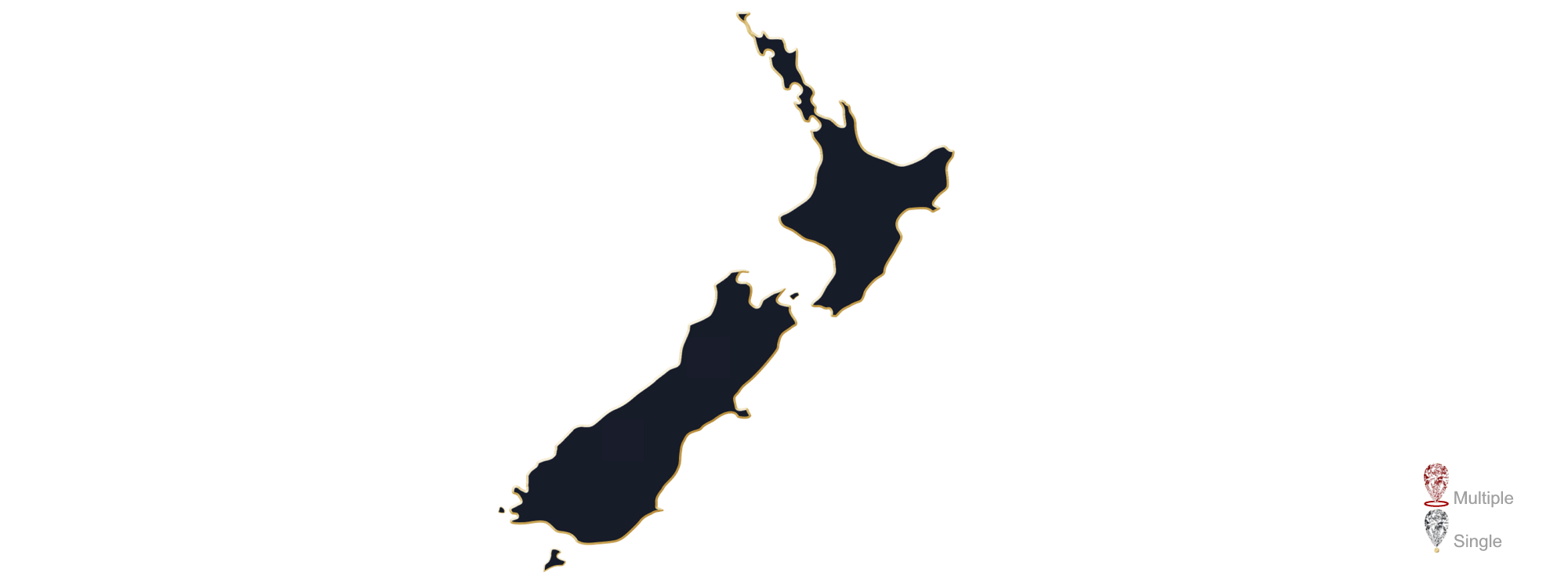 Map showing the location of Jewellery Valuers in NZ
